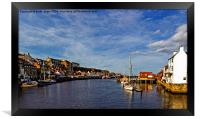 Whitby From The Swing Bridge, Framed Print