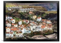 Looking down on Staithes, Framed Print