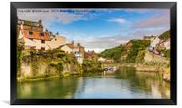 Staithes on a sunny day, Framed Print