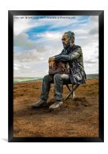 The Seated Man, Framed Print