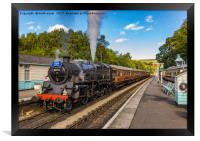 Leaving Grosmont Station, Framed Print