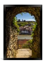 Whitby through the tunnel, Framed Print