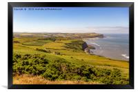The view from Boulby cliffs, Framed Print