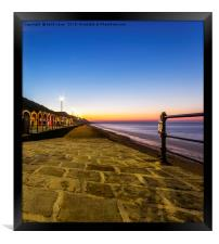saltburn as the sunsets, Framed Print