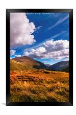 Sunny Day at Rest and Be Thankful. Scotland, Framed Print