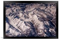 Aerial View of The Mountains , Framed Print