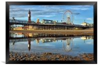 Tower And Pier Blackpool, Framed Print