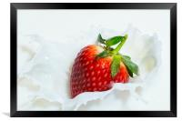 Strawberries and Cream, Framed Print