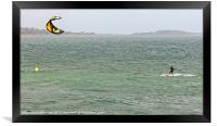Kite Surfing, Framed Print