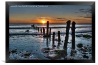 Sandsend Sunrise, Framed Print
