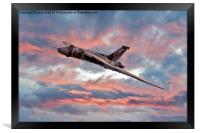 Avro Vulcan at Dawn, Framed Print