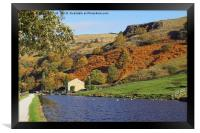 Autumn on the canal-side., Framed Print