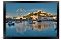 Torquay Harbour and Big Wheel, Framed Print