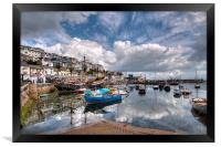 Clouds and reflections over Brixham Harbour, Framed Print