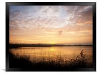 Sunset at Barton upon Humber's Far Ing's National , Framed Print