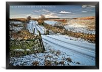 Winter Snow in Weardale, Framed Print