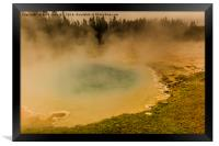 Artists Paint Pots - Yellowstone National Park, Framed Print