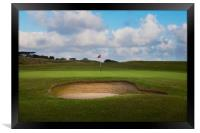 The sand trap, Framed Print