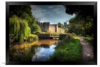 Cardiff castle and Bute Park, Framed Print