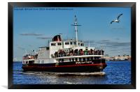 Royal Daffodil arriving at Seacombe Ferry, Framed Print
