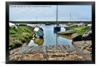 Heswall Beach and its slipway, Framed Print