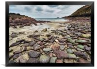 Low Tide in Caerbwdy Bay, Framed Print