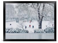 Park in Winter , Framed Print