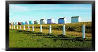 Beach Huts, Greatstone Beach, Framed Print