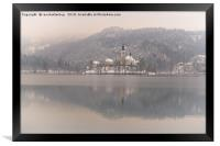 Bled Island On A Wintry Day, Framed Print