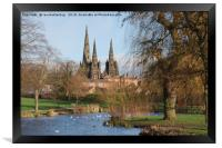 Lichfield Cathedral Beacon Park, Framed Print