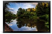 Reflections In Cockington Lake, Framed Print