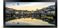 Brixham Harbourside., Framed Print