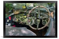 Classic Bentley dash panel, Framed Print