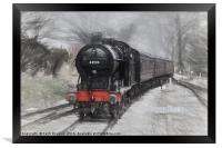Approaching the Station, Framed Print