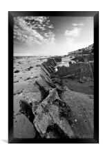 Shipwreck at Hunstanton, Framed Print