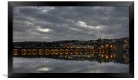 Stormy Night Over Bideford, Framed Print