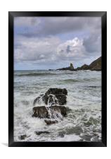 Hartland Quay- Bear Head in Distance, Framed Print