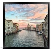Sunset in Venice, Framed Print