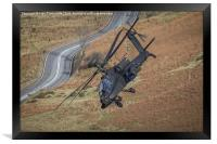 Apache Helicopter, Framed Print