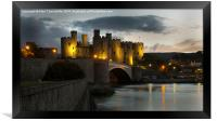 Conwy castle, Framed Print