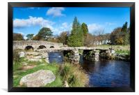 Two Bridges at Postbridge on Dartmoor, Framed Print