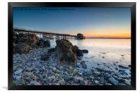 Sunrise at Mumble in Wales, Framed Print