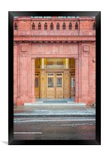 Rangers Ibrox Stadium Entrance, Framed Print