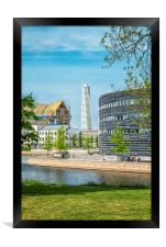 Malmo City Courthouse and Turning Torso, Framed Print