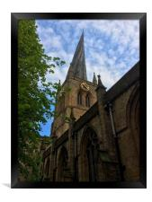 Chesterfield Crooked Spire, Framed Print