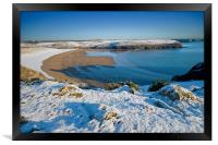 Broadhaven Snowscape, Framed Print