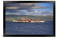 PS Waverley on the Clyde, Framed Print
