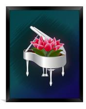 Tulips In Piano, Framed Print