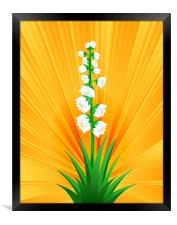 Blooming Yucca, Framed Print