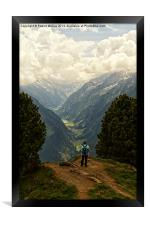 Alpine Viewpoint, Framed Print